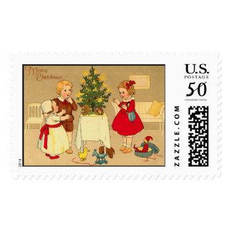 Vintage Christmas Stamps - Christmas Tree