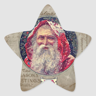 Vintage christmas star sticker