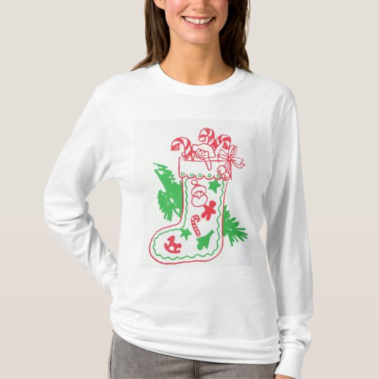 Vintage Christmas Stocking T-Shirt