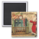 Vintage Christmas Stockings Magnet