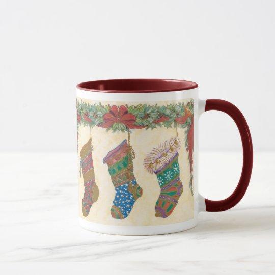 Vintage Christmas Stockings Mug