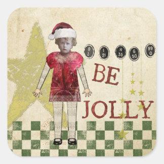 Vintage Christmas Tag Christmas Stickers