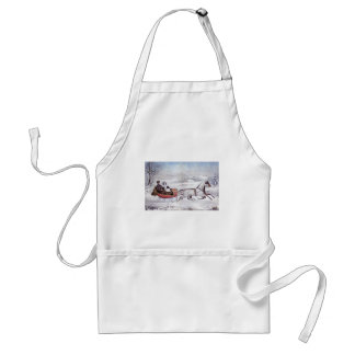 Vintage Christmas, The Road Winter Apron