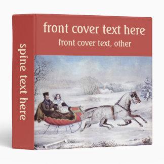 Vintage Christmas, The Road Winter 3 Ring Binder