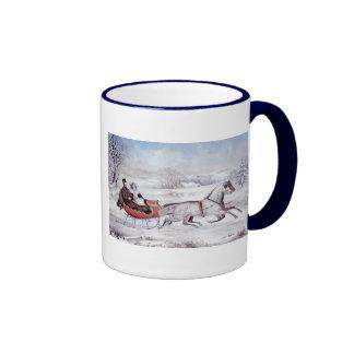 Vintage Christmas The Road Winter Coffee Mug