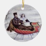 Vintage Christmas, The Road Winter Christmas Ornament