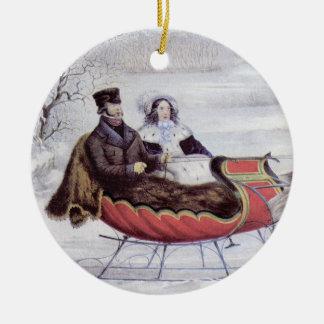 Vintage Christmas The Road Winter Christmas Ornament