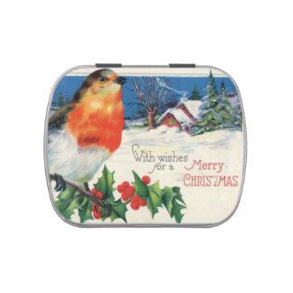 Vintage Christmas Theme Jelly Belly Tin