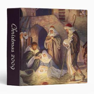Vintage Christmas, Three Shepherds and Baby Jesus Vinyl Binder