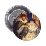 Vintage Christmas, Three Shepherds and Jesus Pins