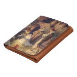 Vintage Christmas, Three Shepherds and Jesus Trifold Wallet