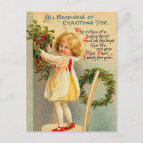 Vintage Christmas Tide Postcard