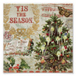 Vintage Christmas Tis the Season Poster