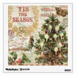 Vintage Christmas Tis the Season Room Stickers