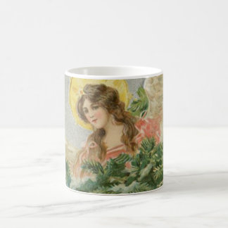 Vintage Christmas Town Angel Coffee Mug