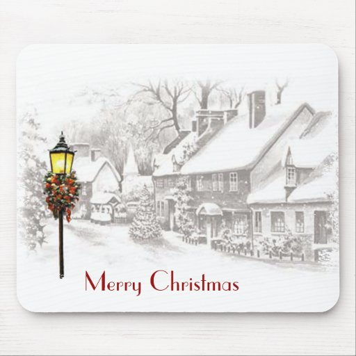 Vintage Christmas Town Mousepad