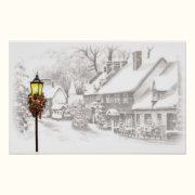 Vintage Christmas Town Poster