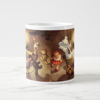 Vintage Christmas Toys, Dancing Dolls, Teddy Bears Giant Coffee Mug