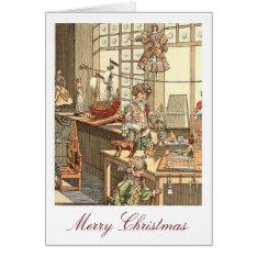 Vintage Christmas Toyshop Card at Zazzle