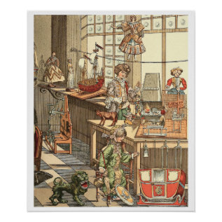 Vintage Christmas Toyshop Poster at Zazzle