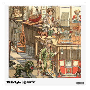 Vintage Christmas Toyshop Wall Sticker at Zazzle