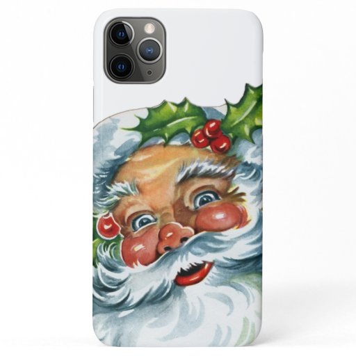 Vintage Christmas Traditional Santa Claus iPhone 11 Pro Max Case