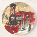 Vintage Christmas Train Coaster