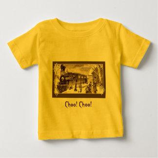 Vintage Christmas Train Sepia Baby T-Shirt