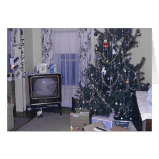 Vintage Christmas Tree and Gifts Stationery Note Card