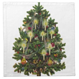 Vintage Christmas Tree Art Napkin