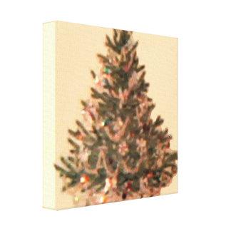 Vintage Christmas Tree Canvas Print