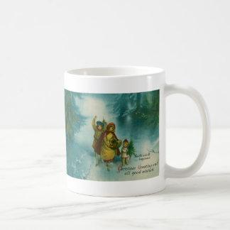 Vintage Christmas Tree Gathering Coffee Mug