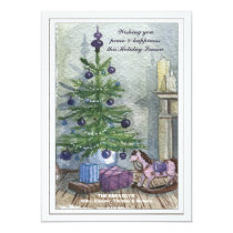 Vintage Christmas Tree Holiday Card