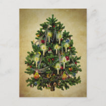 vintage christmas tree holiday postcard