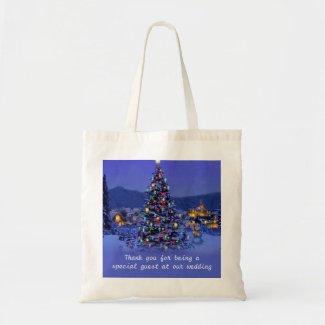 Vintage Christmas tree holiday wedding favor Bag