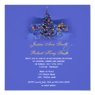 Vintage Christmas tree holiday  wedding reception   Personalized Invites