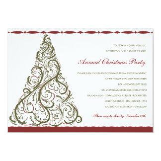 Vintage Christmas Tree Invitation