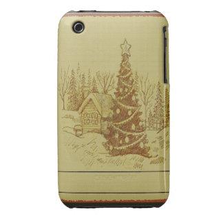 Vintage Christmas Tree iPhone 3 Case