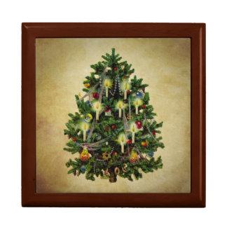 vintage christmas tree jewelry box