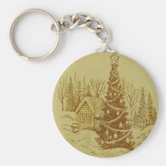 Vintage Christmas Tree Keychains