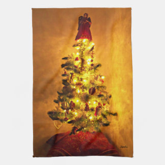 Vintage  Christmas Tree Kitchen Towel