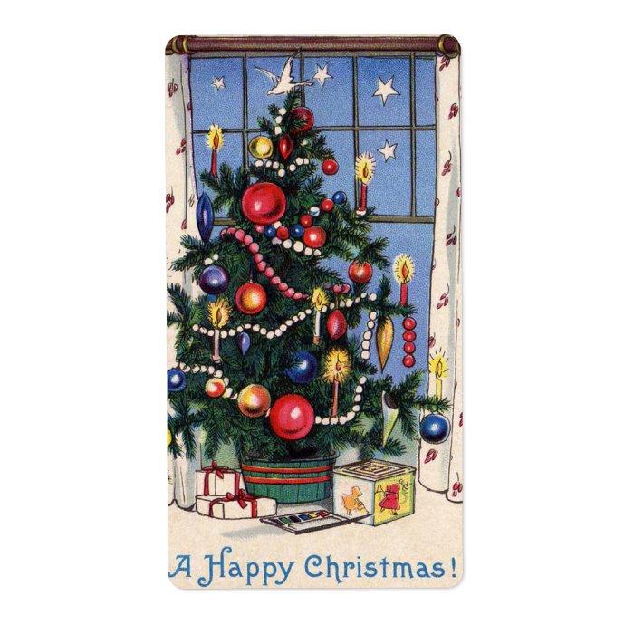 Vintage Christmas Tree Labels