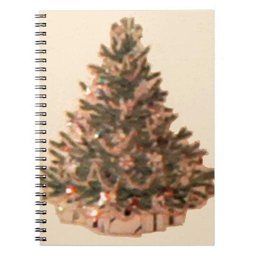 Vintage Christmas Tree Notebook
