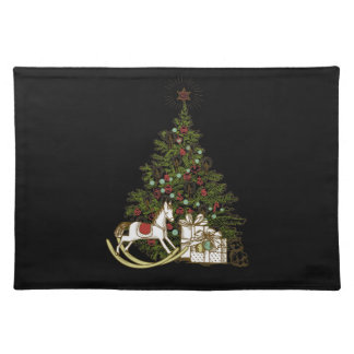 Vintage Christmas Tree Placemats