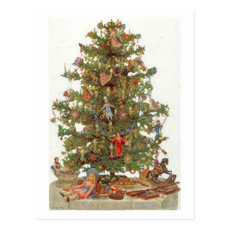 Vintage Christmas Tree Postcards