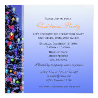 Vintage Christmas tree snowy night party Personalized   Invitation