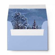 Vintage Christmas tree snowy world holiday wedding   Envelopes