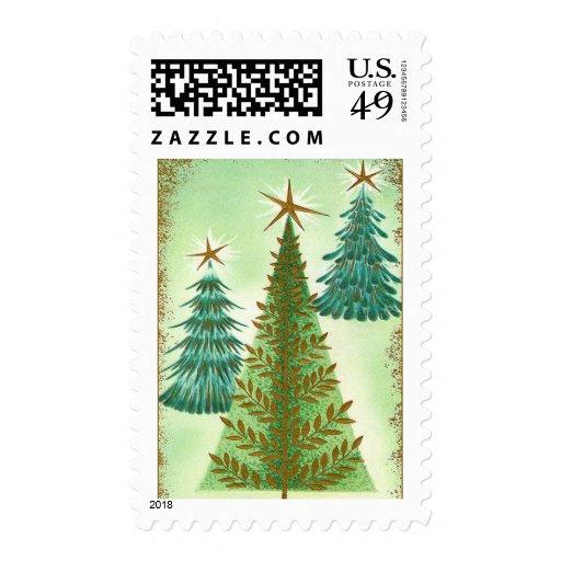 Vintage Christmas Tree Stamp