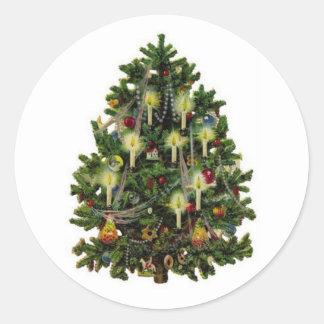 Vintage Christmas Tree Sticker