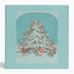 Vintage Christmas Tree Teal Binder